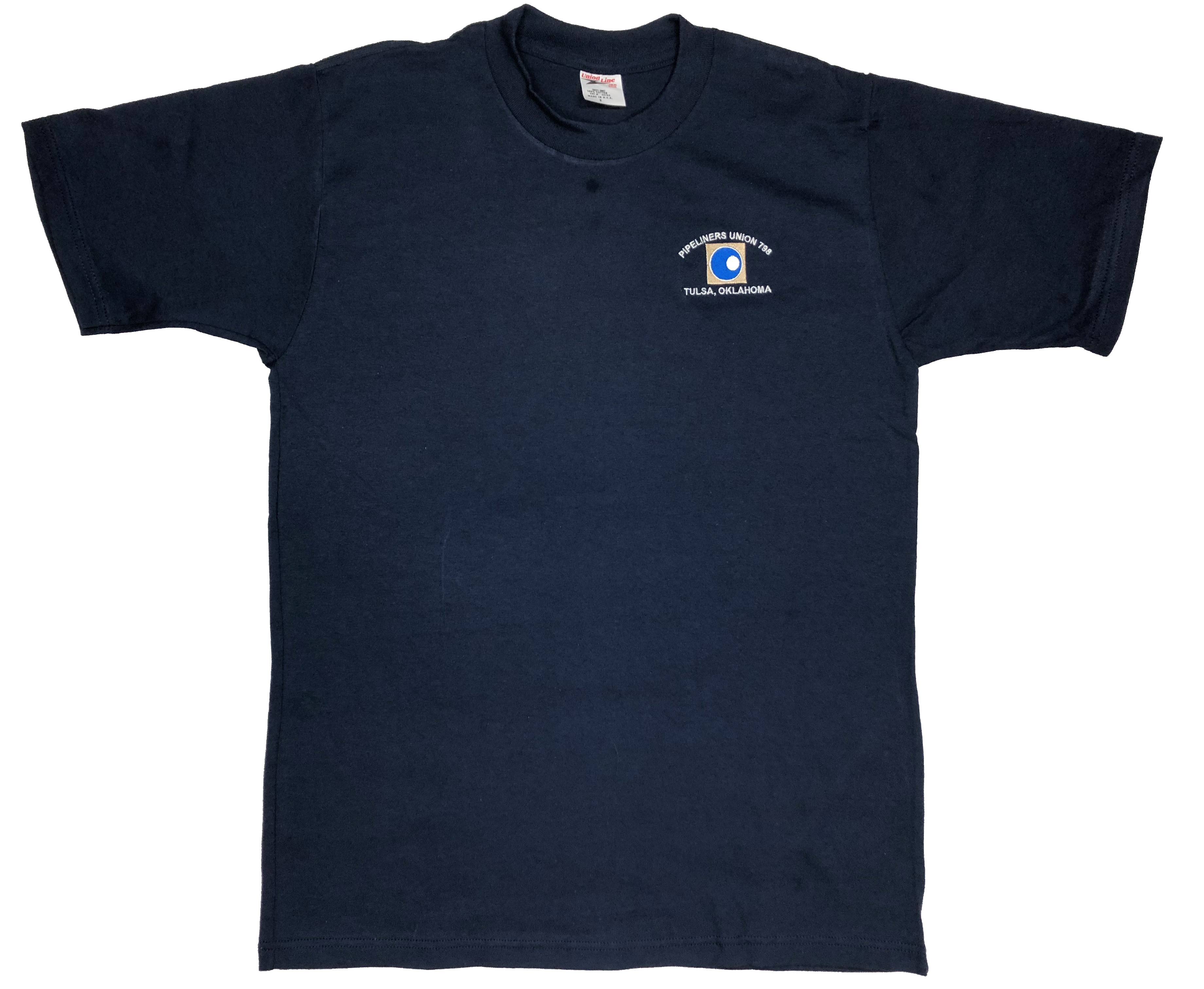 0183417a72e Navy T-Shirt w embroidered Logo - Local 798
